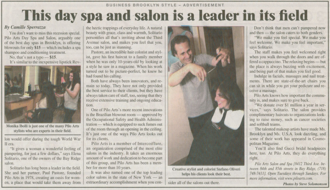 "Courier Life Publications article ""This day spa and salon is a leader in its field"""