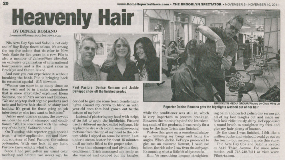 "The Home Reporter articel - ""Heavenly Hair"""